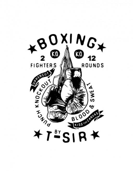 camiseta boxing hombre blanca � tsir