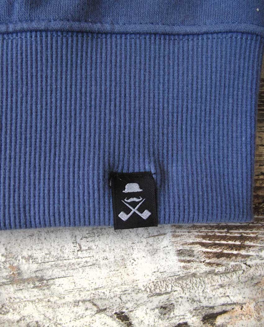 Sudadera cremallera T-Sir unisex azul denim etiqueta